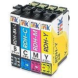 【starink オリジナル】 EPSON エプソン 互換 インクカートリッジ RDH-4CL ( BK/C/M/Y ) 4色セット RDH BK 【 ICチップ付 】 残量検知対応 RDH 対応機種: PX-048A PX-049A