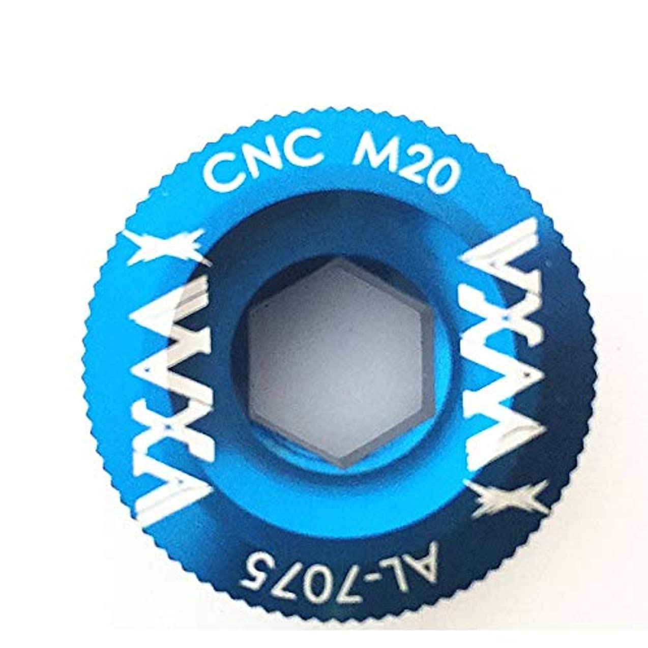 欠伸おとうさん摩擦Propenaryは - 自転車クランクカバーのネジキャップM20ロードバイククランクボルトクランクセットはバイクフィッティングボルトCNCクランクアームネジBB軸の固定ネジ[青]
