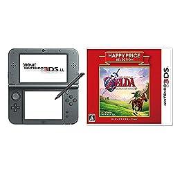 New ニンテンドー3DS LL メタリックブラック + ハッピープライスセレクション ゼルダの伝説 時のオカリナ 3D - 3DS セット