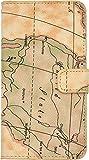 PLATA isai vivid LGV32 用 ワールド 世界地図 ケース ポーチ 手帳型 カバー 【 01 】 ALGV32-53-01