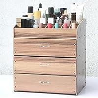 WTL かご?バスケット 木製化粧品収納ボックス破片仕上げボックス (色 : C, サイズ さいず : 27*19.5*30cm)