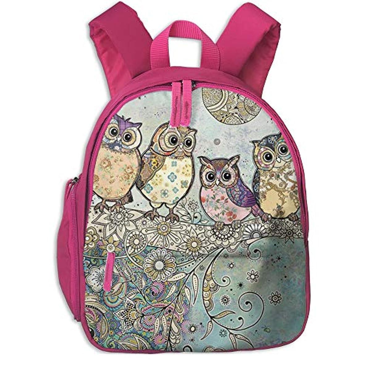 どこでも木製コンバーチブルフクロウ かわいい 子供用バックパック 綺麗 キッズ リュック 実用性 通学 パック ポケット付き