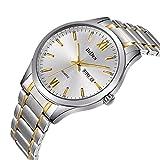 時計メンズウォッチゴールドステンレススチールウォッチラグジュアリーファッション防水手首アナログクォーツウォッチ