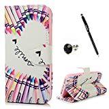 Badalink iPhone SE ケース 手帳型 スタンド機能付 カードポケット付き 財布型プロテクター カラーペン