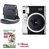 instax mini90 チェキ ネオクラシック本体 ブラック & フイルム50枚 & カメラバック(速写ケース)