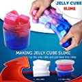 HSETIY Super Slime Kit Supplies-12 Crystal Clear Slimes with 54 Packs Glitter Sheet Jars, 3 Jelly Cubes,4 Pcs Fruit Slices,16 pcs Animals Beads, Foam Balls?5 Slime Containers with DIY Art Crafts
