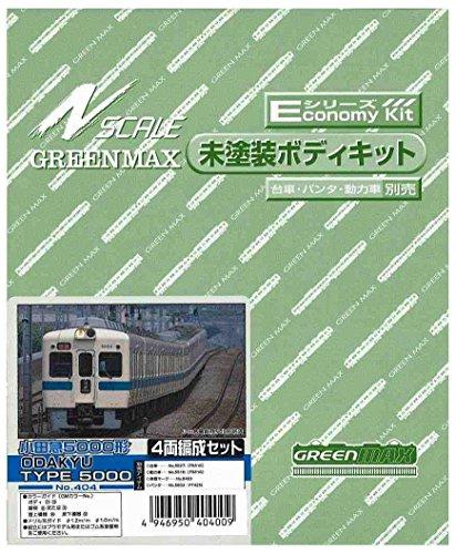 グリーンマックス Nゲージ 404 小田急5000 (2600)系 4輌セット (未塗装車体キット)