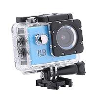 アクションカメラ、HD液晶30m防水120°広角HD 4Kスポーツアクションカメラリモートコントロール小型Box_Blue