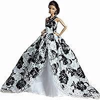 11インチの人形のハンドメイド甘いウェディングドレスのための人形服レースドレス