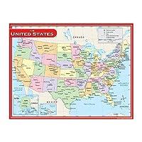 (3) - Us Map Chart 17x22 [Set of 3]