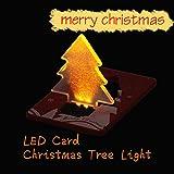 Demiawaking カードライト クリスマスライト 折りたたみ LED電飾 飾り付け クリスマスツリー飾り