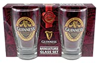 Mini Pint Glasses 2 Pack With Guinness Classic Collection St. James Gate Label Design