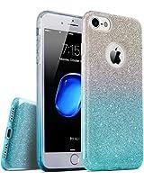 TOZO iphone8 ケース/ iphone7 ケース キラキラ TPU 超薄型 超軽量 三重保護 [グラデーションブルー]