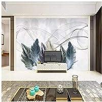 Mingld 現代のミニマリストの羽壁高グレード壁布メーカー壁紙壁画写真壁-350X250Cm