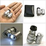 PLATA 小型 マイクロ スコープ 【 LEDライト 付き/倍率 45倍 】 印刷物のチェック や 宝石鑑定 等に