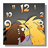 Angry Beavers 11'' 壁時計 アングリー・ビーバーズ あなたの友人のための最高の贈り物。あなたの家のためのオリジナルデザイン。