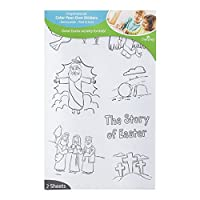 Children's Activity Coloring Easter Stickers [並行輸入品]