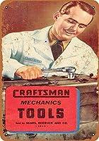 Sears Craftsman Mechanics Tools 金属板ブリキ看板警告サイン注意サイン表示パネル情報サイン金属安全サイン