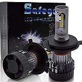 Safego h4 ledヘッドライト Hi/Lo 6500K 10000LM DC12-24V 60W(30Wx2)高輝度 LED チップ搭載 無極性 1年保証 車検対応