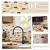 Unidesign Kitchen Wall Sticker LBT1 Brick Brown