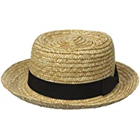 San Diego Hat Company Women's Straw Boater with Solid