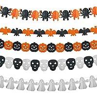 ハロウィンガーランド KAKOO ガーランド ハロウィン バナー 3D立体 かぼちゃ クモ コウモリ 幽霊 頭蓋骨 飾り付け パーティーアクセサリー