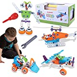 Kuman Stem Toys for Boys, 6 in 1 Stem Educational Build & Play Toys DIY Building Blocks Construction Toys for Boys & Girls | Ages 5 6 7 8 9 10 11 12 Years Old | Best Toy Gift for Kids J-201
