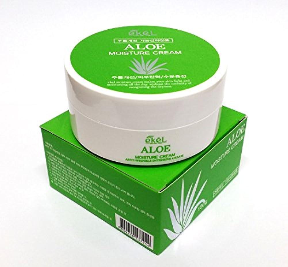 頼む肩をすくめるフォーム[Ekel] アロエモイスチャークリーム100g / Aloe Moisture cream 100g / しわ、アロエベラオイルフリー / wrinkles, Aloe Vera Oil-Free / 韓国化粧品 /...