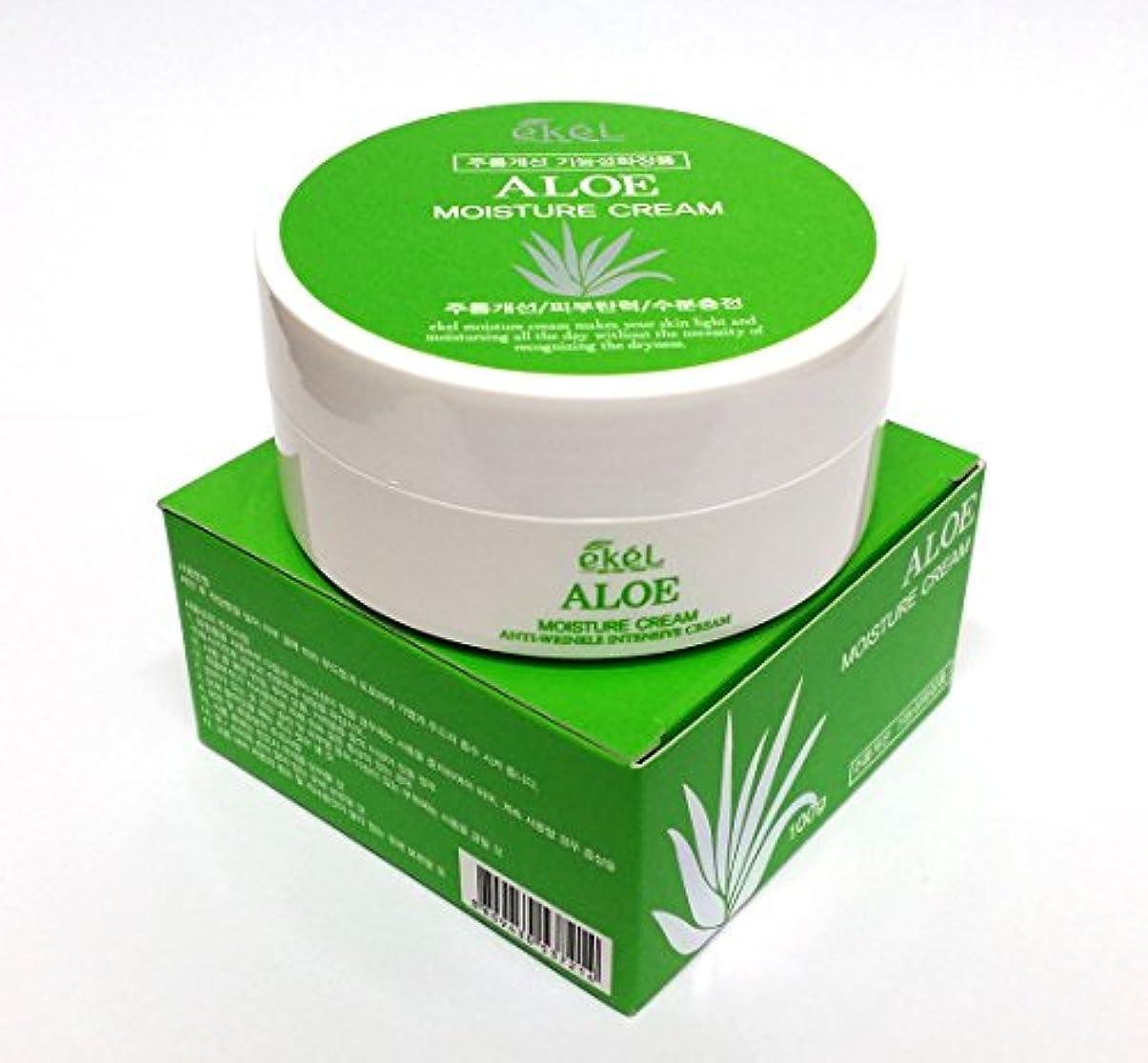航空憂鬱な振り向く[Ekel] アロエモイスチャークリーム100g / Aloe Moisture cream 100g / しわ、アロエベラオイルフリー / wrinkles, Aloe Vera Oil-Free / 韓国化粧品 /...