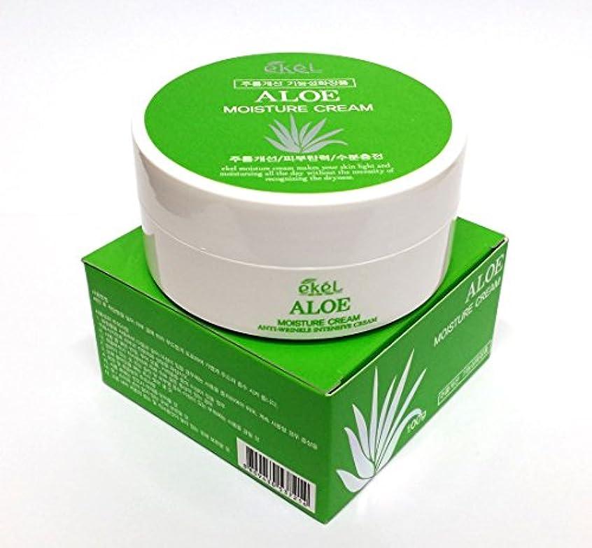 ピアース歴史的困惑する[Ekel] アロエモイスチャークリーム100g / Aloe Moisture cream 100g / しわ、アロエベラオイルフリー / wrinkles, Aloe Vera Oil-Free / 韓国化粧品 /...