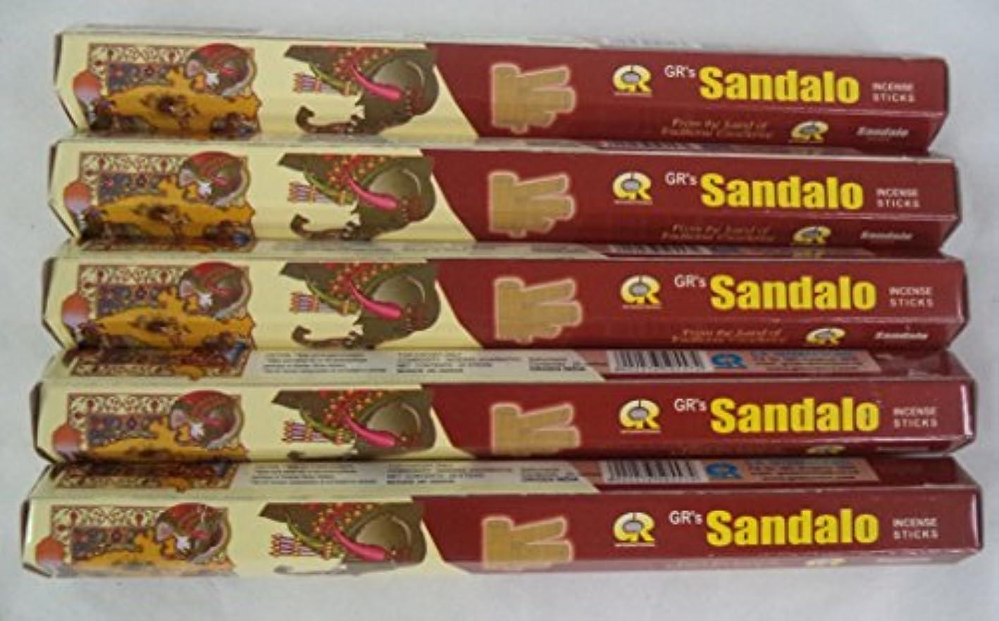 インデックス時間とともに手当Sandalo 100 Incense Sticks ( 5 x 20スティックパック) : Grブランド