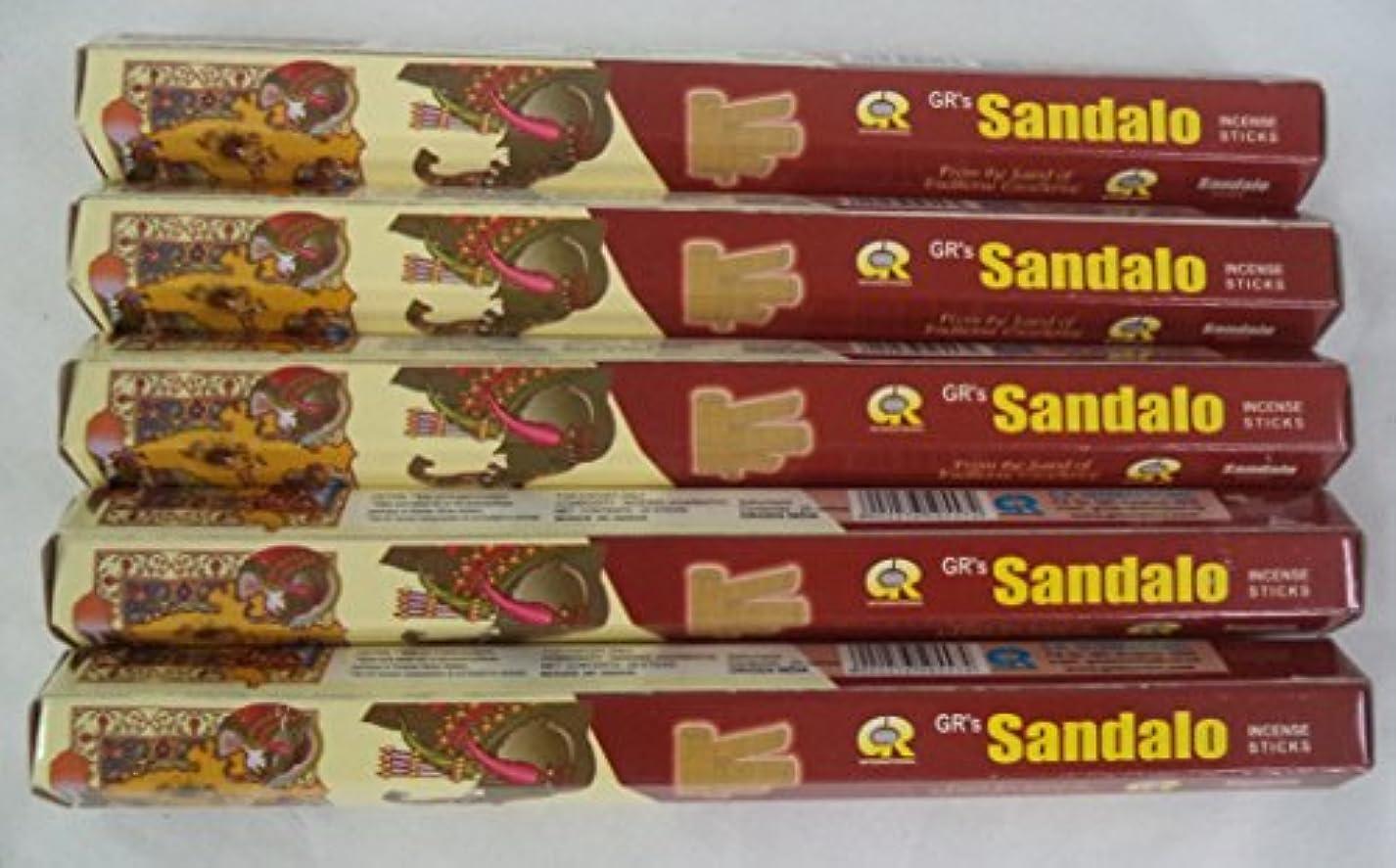 成功厚さ高度Sandalo 100 Incense Sticks ( 5 x 20スティックパック) : Grブランド