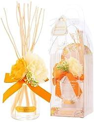 サンハーブ ルームフレグランスフラワー ベルガモット 100ml(芳香剤 花かざり付 懐かしい甘酸っぱい香り)