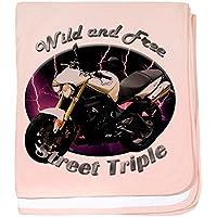 CafePress – Triumph Street Triple – スーパーソフトベビー毛布、新生児おくるみ ピンク 05777167366832E