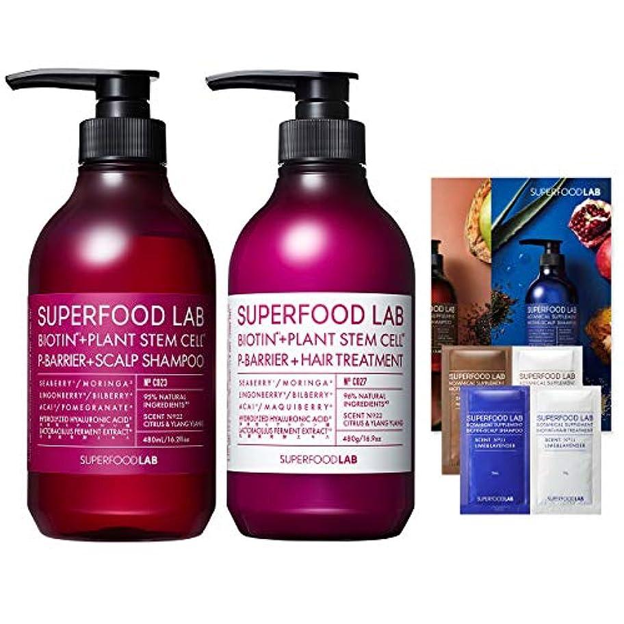 我慢するミルク農場SUPERFOOD LAB 【スッキリ】 シャンプー&トリートメント +[ おまけ:1Dayパウチ×2個 & リーフレット] スカルプPバリアセット