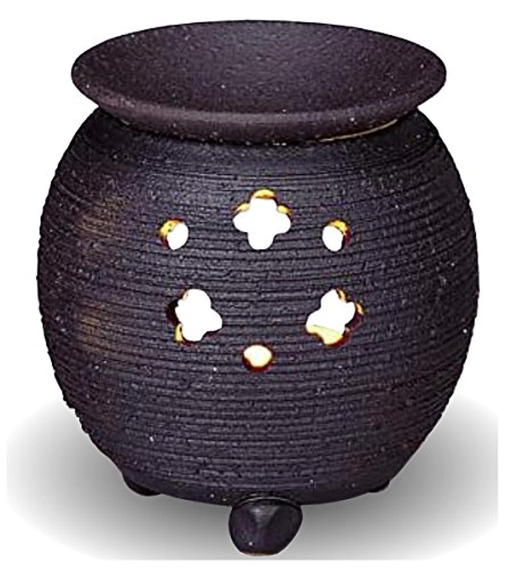 葉を拾うシンボル電報常滑焼 茶香炉(アロマポット)径10×高さ10.5cm