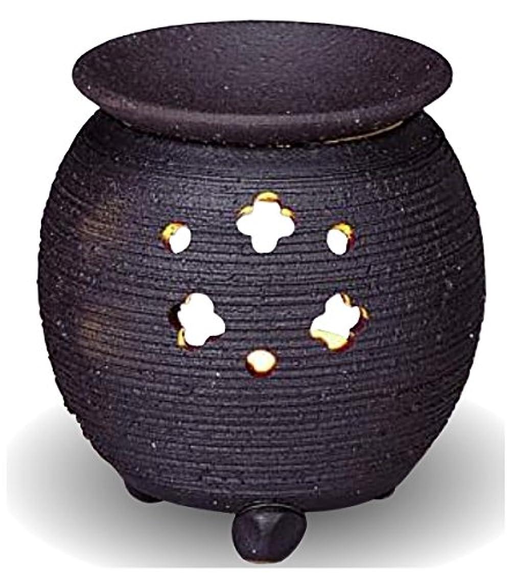 対角線バウンストレーダー常滑焼 茶香炉(アロマポット)径10×高さ10.5cm