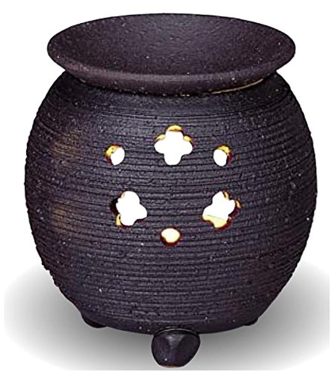 放出とげ否認する常滑焼 茶香炉(アロマポット)径10×高さ10.5cm