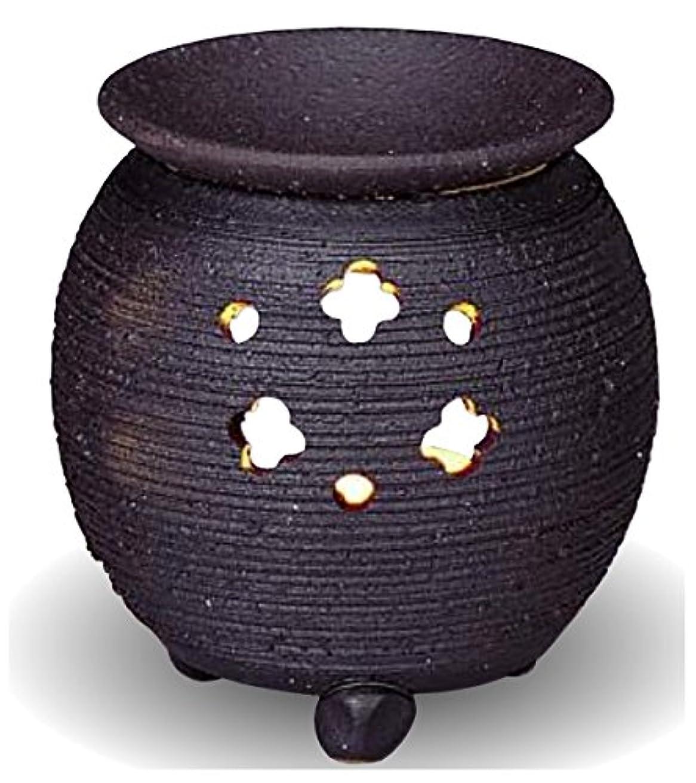 ワンダー端末差し控える常滑焼 茶香炉(アロマポット)径10×高さ10.5cm