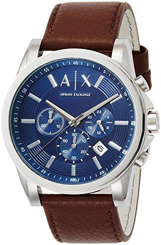 アルマーニエクスチェンジ A X Armani Exchange Men's Chronograph Brown Leather Strap Watch AX2501 男性 メンズ 腕時計 【並行輸入品】