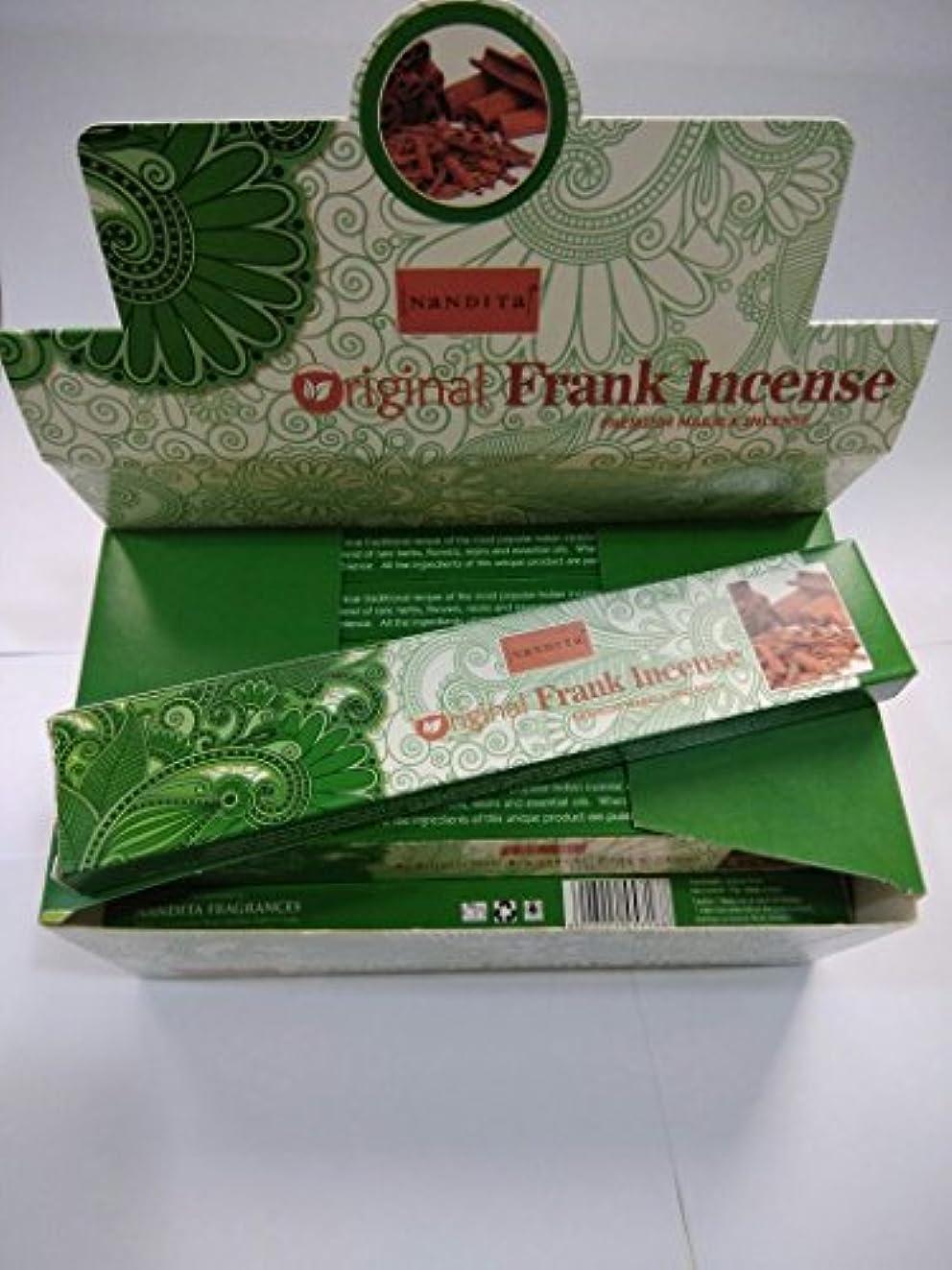 昼食結婚式悩むNandita元Frankincense Incense Sticks(15 g x 12パケット)