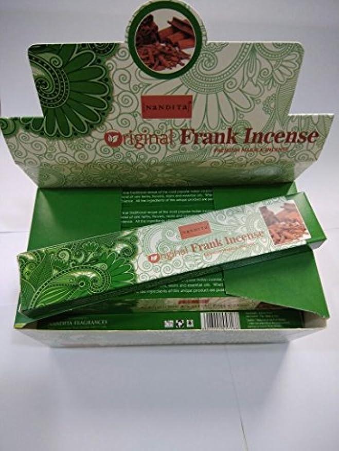ヒット巧みな床Nandita元Frankincense Incense Sticks(15 g x 12パケット)