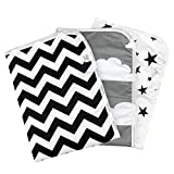 "Chunky Chops | Premium Changing Pad Liner | Waterproof | 3 Count | 27.5"" X 19.5"" Monochrome"