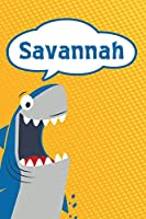 "Savannah: Great White Shark Blank Comic Book Notebook Journal book 120 pages 6""x9"""