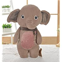 HuaQingPiJu-JP キッズクリエイティブな耐久性のあるおもちゃ柔らかいぬいぐるみ小さな象の動物のおもちゃの人形ピローズ赤ちゃんの人形おもちゃのミニドール少年と少年のためのホット子供のためのギフト(ブラウン)