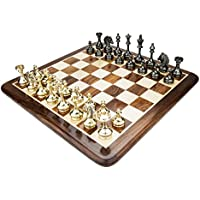 Chessncrafts Brass Cavalier Chess Set, Perfect For Gifting, Self-Use, Foldable Set, Board
