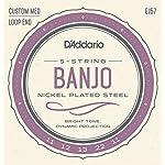 D'Addario ダダリオ バンジョー弦 ニッケル Custom Medium 5弦 .011-.022 EJ57 【国内正規品】