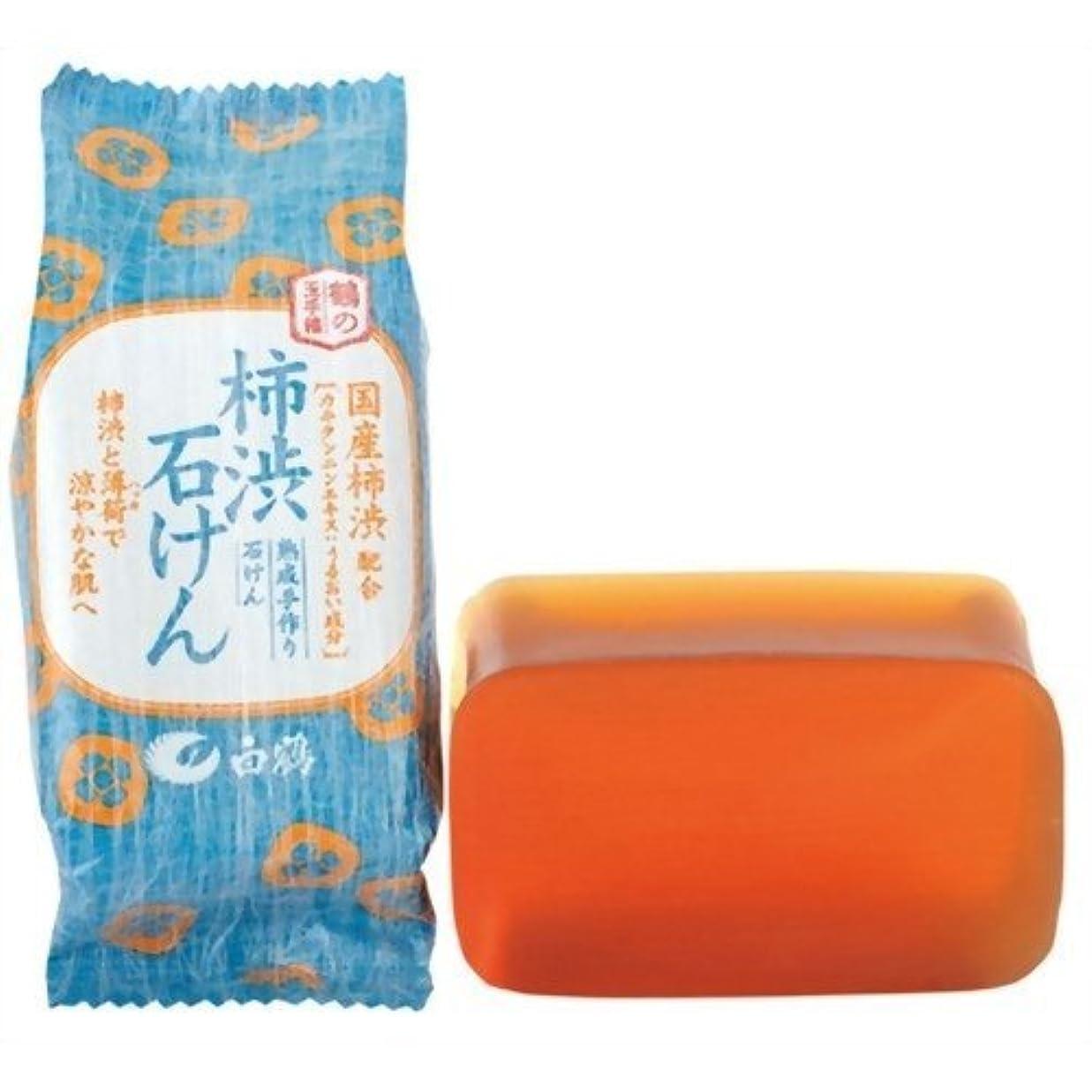 キモい平手打ち持つ白鶴 鶴の玉手箱 薬用 柿渋石けん 110g × 5個