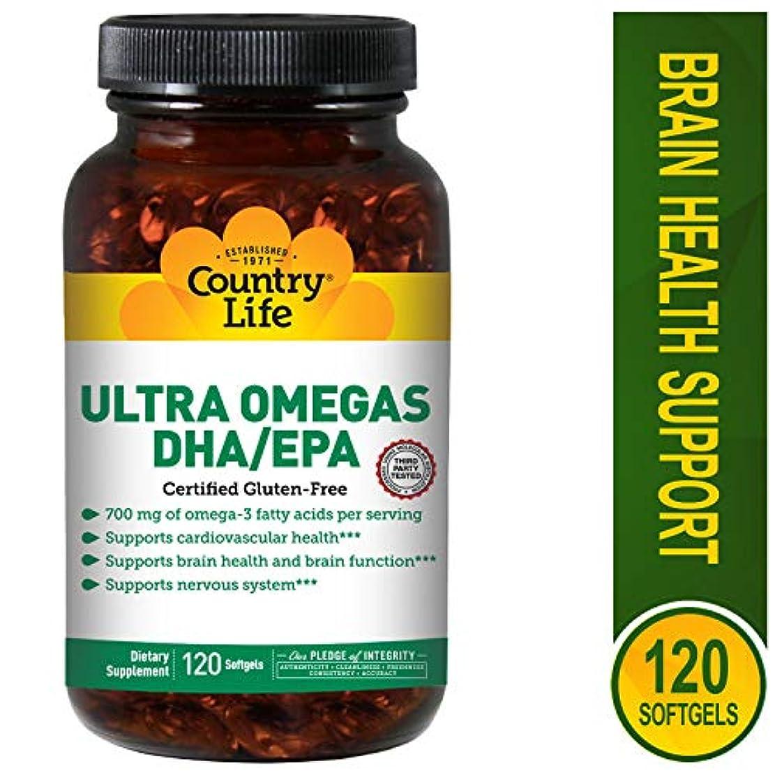 エキゾチック役立つ粘性のCountry Life - 超Omega DHA/EPA 500 mg/200 mg - 1ソフトジェル