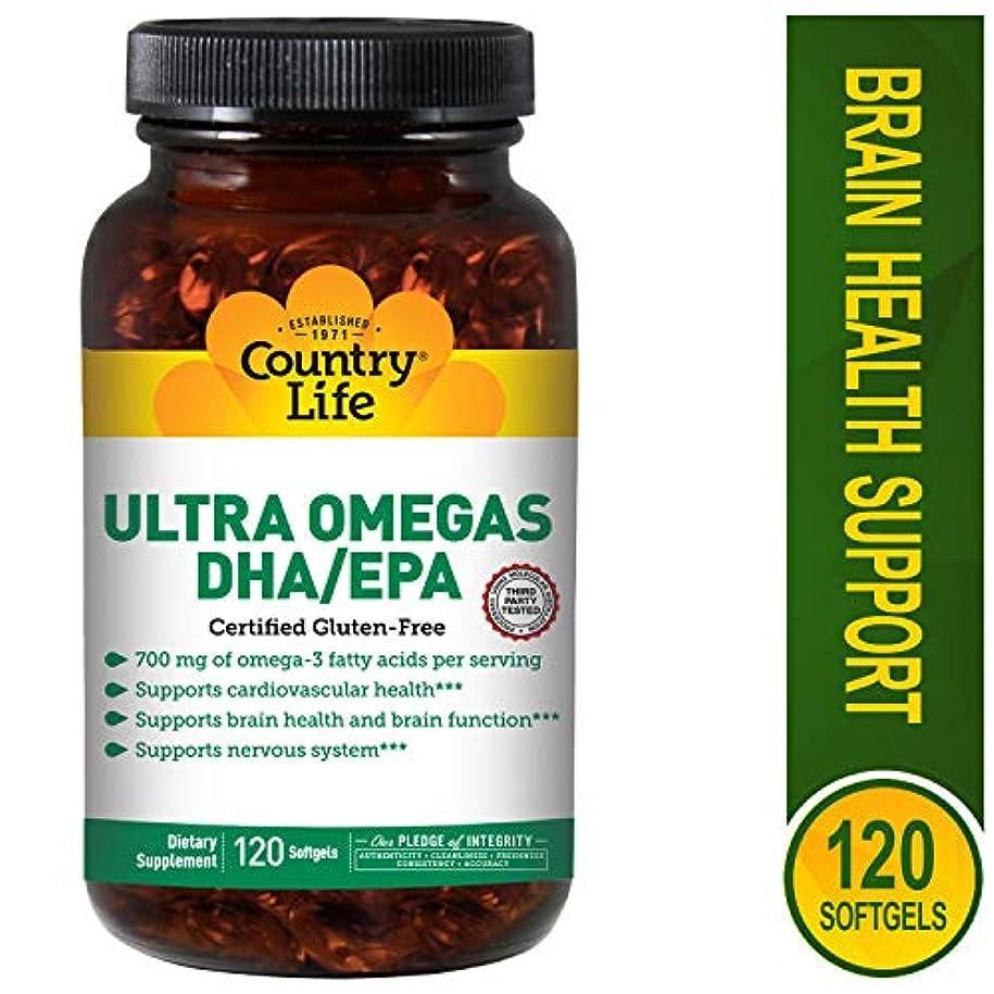 靴下メモ定義Country Life - 超Omega DHA/EPA 500 mg/200 mg - 1ソフトジェル